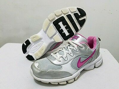 Girls Nike Shoes Size 4 Youth Running Sneakers Pink White Gray