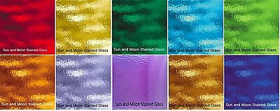 "8""x10"" - Spectrum Rough Rolled Glass Pack - Stained Glass Sheets  (10 sheets)"