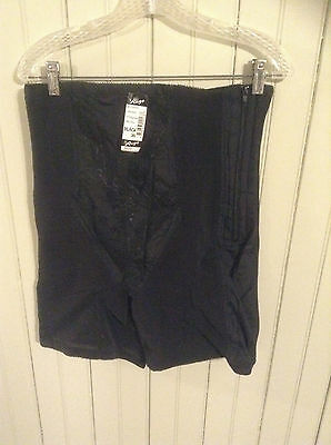 NIP Vintage Black Rago high waist long leg Girdle w/ zipper & garters (3HL)