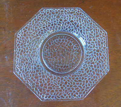 "L E Smith By Cracky Crystal Octagon 5 7/8"" Bread & Butter Plate(s)"