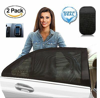 2 Pack Baby Car Shade Sun Shade Screen Covers for Rear Side Window UV Protection