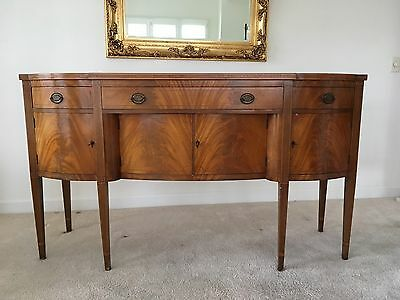 FEDERAL STYLE MAHOGANY INLAID SIDEBOARD WILLIAMS -KIMP (Now BAKER) FURNITURE CO.