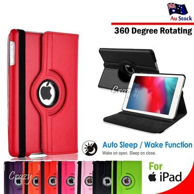 Smart Cover 360 Rotate Case for Apple iPad 5 4 3 2 | iPad Mini | iPad Air | Pro