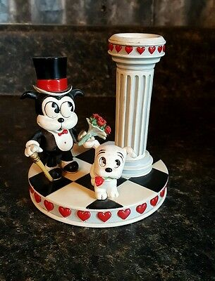 "Danbury Mint Betty Boop ""Enchanted Evening"" Candle Holder Bimbo & Pudgy Hearts"