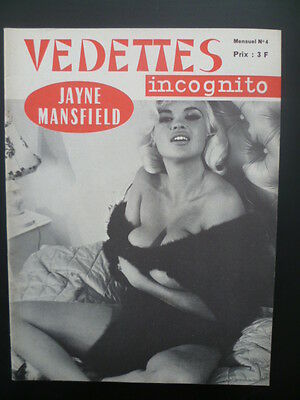 Magazine VEDETTES INCOGNITO n° 4 - Couverture Jayne MANSFIELD