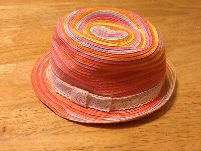 The Children's Place Girls Spring/Summer Hat, Size S 4-6, Multicolor