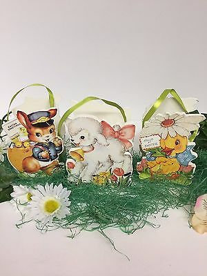 Bethany Lowe Retro Easter Buckets: Sold as a Set of 3: RL6559