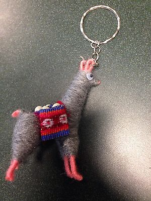 Llama Keychain From Peru Made With Real Llama Fur