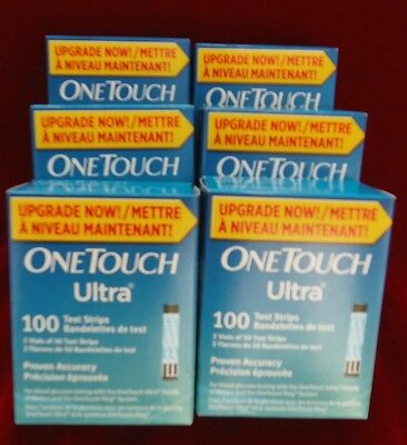 One Touch Ultra Test Strips, 100X6 test strips, Exp.10/2018