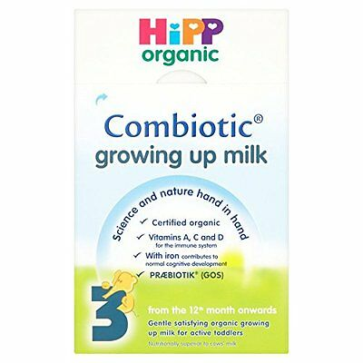HiPP Organic 3 From the 12th month onwards Growing up milk 600g Pack of 4