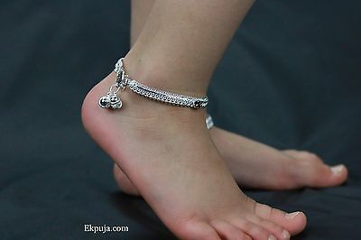 Stunning Kids Ankle Chain Anklet Bell Indian Payal Bollywood Single Or Pair
