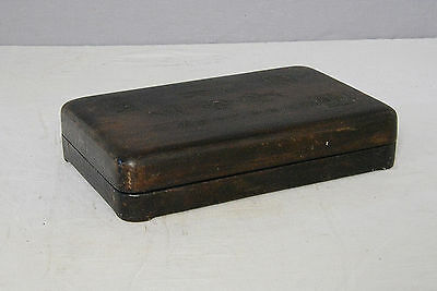 Chinese  Blace  Ink  Stone  With  Wood  Box     M2121