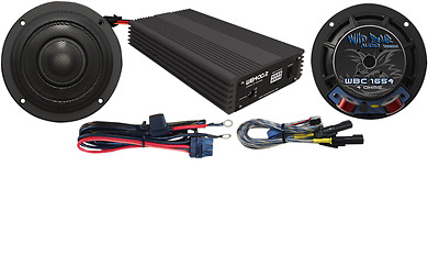 Wild Boar Audio 'WBASG KIT' 400W Amp & Speakers for 2014-up Harley Touring - 440