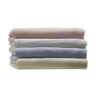 2x Lollipop Lane Single Jersey Fitted Sheets For Crib & Cot Blue 100% Cotton New