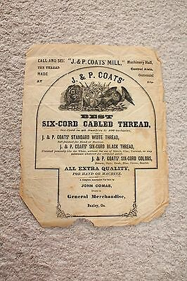 Vintage Antique Baxley, GA J & P Coats Flyer Six Cord Cabled Thread