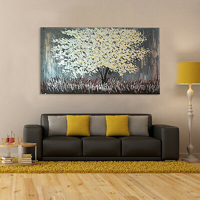 Flower Acrylic Painting on Canvas Modern abstract Tree Floral Wall Art Picture