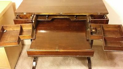 Antique Writing Desk, many compartments, Unusual, Rare