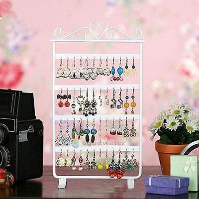 Earrings Necklace Ear Studs Jewelry Display Rack Metal Stand Organizer Holder