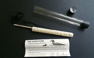 THE LOON FLUTE - Duplicate 4 Calls Loon Wail Tremolo Yodel Hoot Hunting NEW
