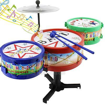 1 Set Kids Baby Assembled Drum Kit Musical Instruments Educational Toy Gift