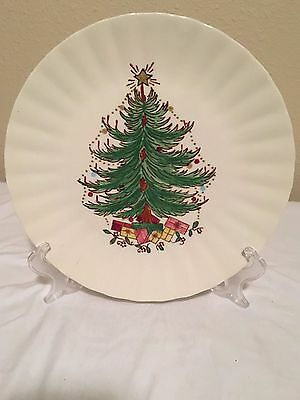 "Blue Ridge 10 1/2"" Cristmas Tree Plate on the Colonial Blank"
