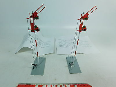 AX667-0,5# 2x B model ETS Spur 0 Tin Signal Height approx. 19,5 cm tested,vg