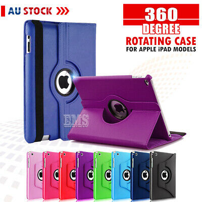 360 Rotate Leather Case Cover Apple iPad 2 3 4 5th 6th 7th Gen Air 1 2 Mini 2 3