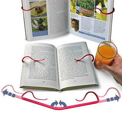 Folding Stand Holds Pages Open Clip Travel Reading Tool Hands Free Book Holder