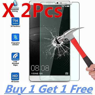 2X Explosion Proof Gorilla Tempered Glass Screen Protector Case For Huawei