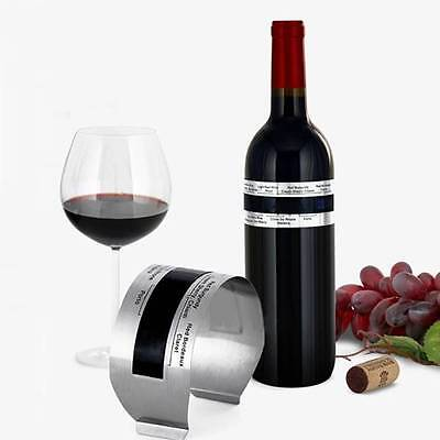 Creative Stainless Steel Red Wine LCD Bracelet Thermometer