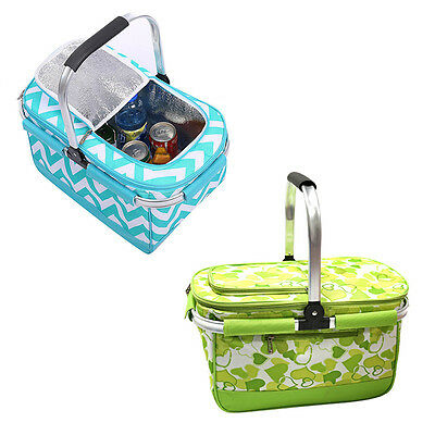 High Quality Camping Outdoor Picnic Basket Collapsible Large Food Storage Bag