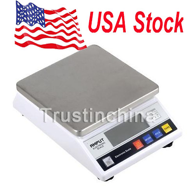US! Laboratory Digital Scale 7500g / 0.1g LCD Display Weighting Balance US FATS!