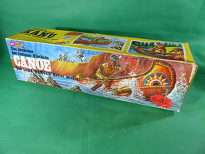 Marx / Gabriel Lone Ranger - Indian Canoe - sealed in Box - Ladenfund - NOS