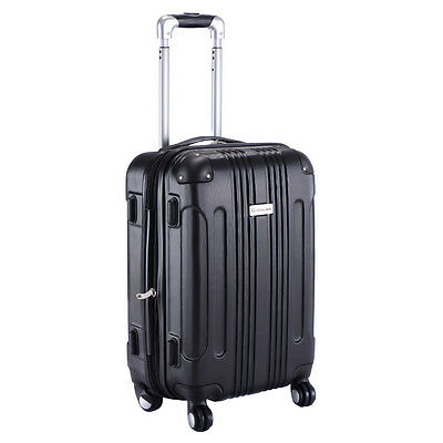 """Expandable 20"""" ABS Carry On Luggage Travel Bag Trolley Suitcase"""