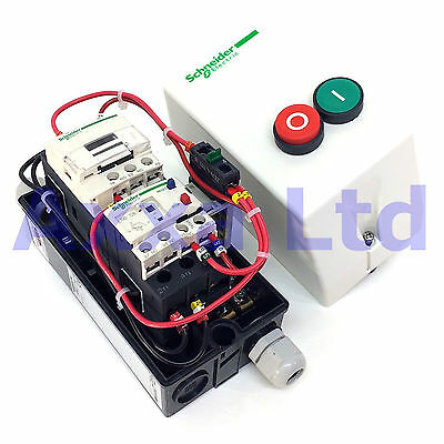 DOL Direct-On-Line Motor Starter Schneider, Up to 18A Pre-wired (Single Phase)