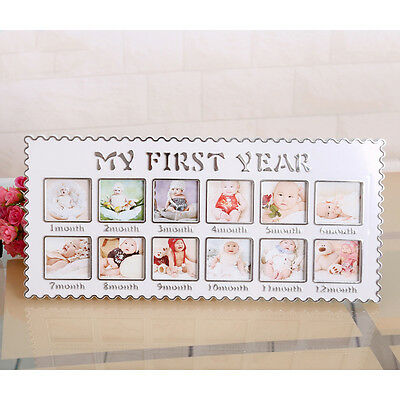 Baby MY FIRST YEAR Photo Frame Multi Picture Display for 12 Months
