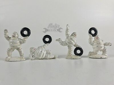 4 Small Michelin Men Cast Iron Man Figurines with Tyres CP-LC-0121