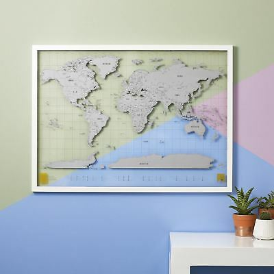 Scratch Map Clear Luckies Wall World Travel Scratch Off Map Tubed