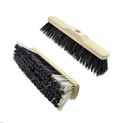 30/35/40cm Threaded Broom Sweeping Brush Head Replacement Soft Natural Bristle