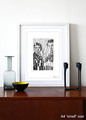 OASIS - Cast No Shadow ❤ song lyric poster art Edition Print - 5 sizes #4