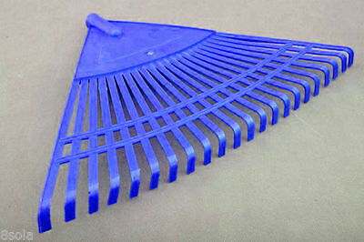 55cm Wide 22 Tooth Heavy Duty Plastic Canadian Rake Head Replacement Lawn Leaves