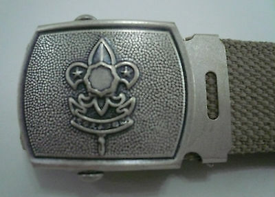 SCOUTS OF JAPAN - NIPPON BOY & GIRL SCOUT Official Uniform Metal Buckle & Belt