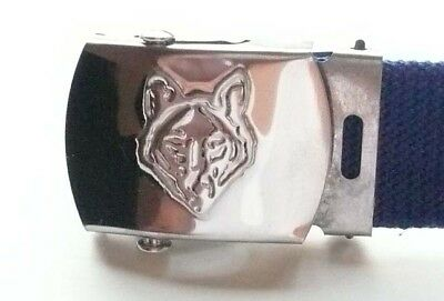 SCOUTS OF CHINA (TAIWAN) - WOLF CUB SCOUT Metal SILVER COLOR Buckle & Belt MINT