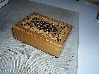 antique music box made in Italy, Switzerland movement, music box clean