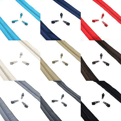 High Quality Nylon Spiral Coil Zip No 5 Continuous Zipper Tape ✄ 9 Colours ✄ C2O