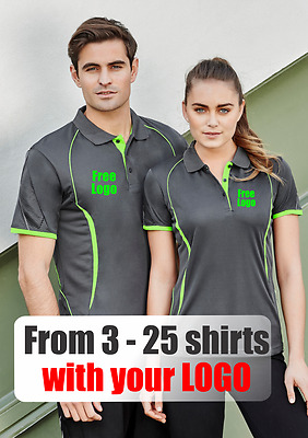 From 3 - 25 shirts Men Razor Polo with Your Embroidered LOGO (Biz P405MS)