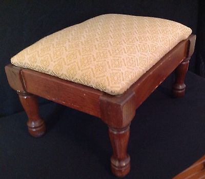 Anitique/VTG  Upholstered Small  Wooden Foot Stool