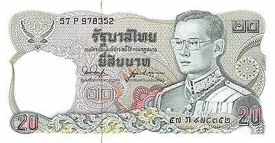 Thailand  20 Baht  ND. 1981  P 88 sign. # 53 Series 57 P Uncirculated Banknote