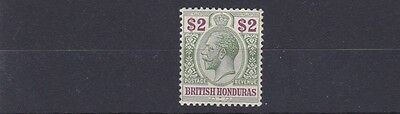 British Honduras   1913 -    S G 109   $2  Purple & Gren      Mh  Cat £90