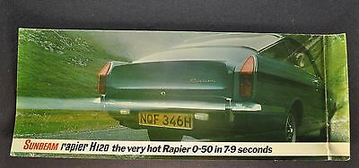 1970-1971 Sunbeam Rapier H120 Sales Brochure Folder Original